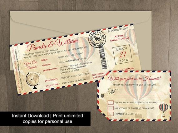 airline luggage tag template - diy printable wedding boarding pass luggage tag template
