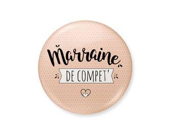 Godmother badge. Comp godmother ', badge for godmother, godmother gift, baptism gift