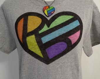 LGBT Pride Shirt - Hidden Message - LGBT Shirt - Rainbow Heart - Gay Pride Shirt - Equality Shirt - Rainbow Shirt - Vintage Style Clothing