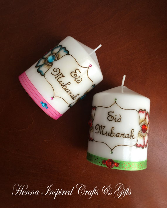 Eid mubarak henna candle eid gift ramadan eid festival for Home decor parties canada