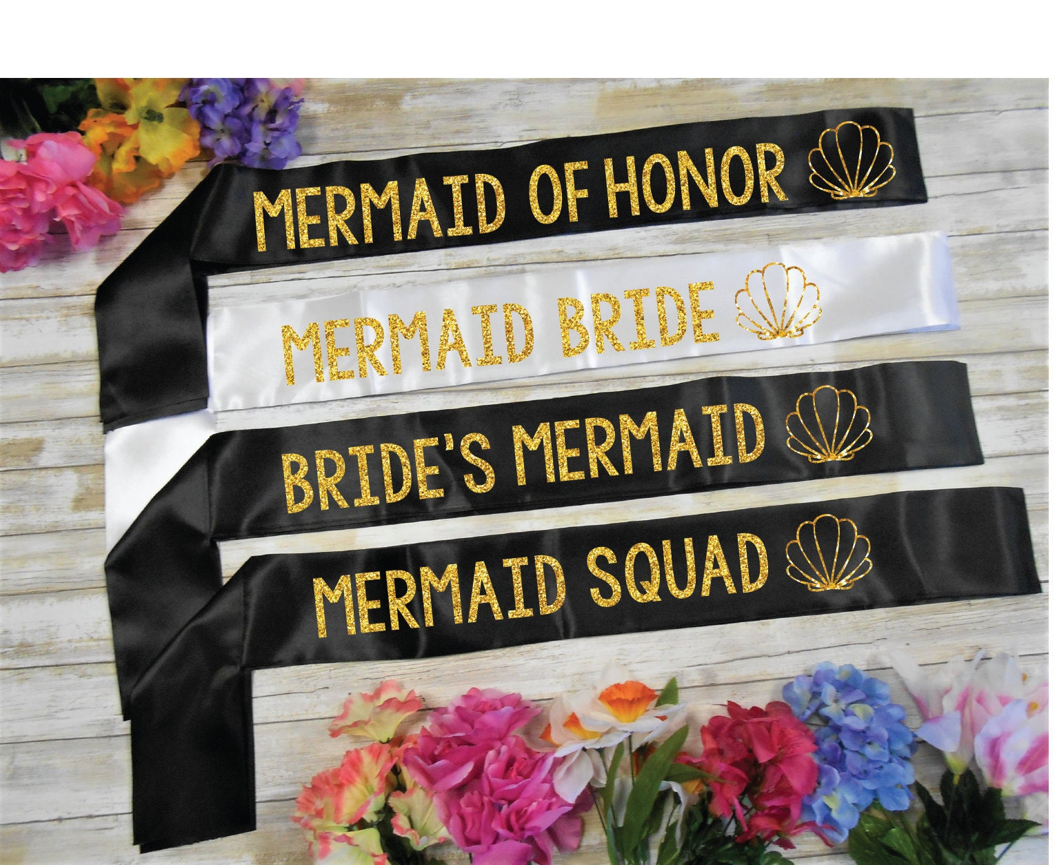 Mermaid Bride Sash