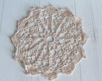 Vintage crochet doily is handmade, vintage.