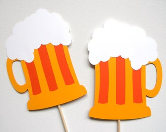 Beer Mug Photo Booth Props . Beer Photo Booth Props . Beer Mugs . Beer Tasting . Drinking . Photo Booth Props . Set of 2