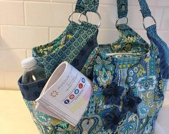 Turquoise Paisley Shoulder Bag