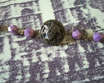 Antique button bracelet