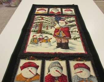 Snowman Quilted Wall Hanging or table topper for Winter and the Holidays
