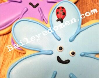 Garden Friends cookies | Custom Decorated Sugar Cookies | garden | Flower | Ladybugs