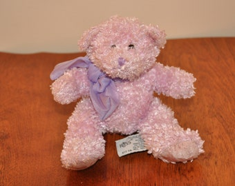 Vintage Collectable Russ Pink Bubbles Teddy Bear Sparkle
