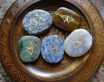 BUTTERFLY Gemstone Animal Spirit Totem for Spiritual Jewelry or Crafts