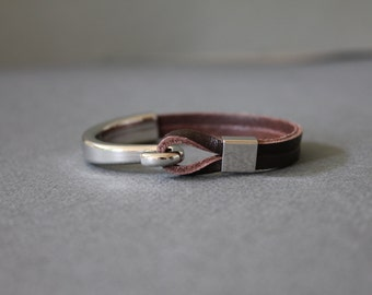 Loop Closure Leather Bracelet(3 colors)