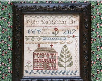 Thou God Seest Me : Cross Stitch Pattern by Heartstring Samplery