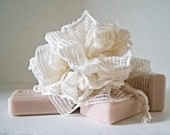 Natural Ramie shower flower / natural/Puff/Exfoliating body shower sponge / bath/Spa/SOAP skins soft/bath/accessories