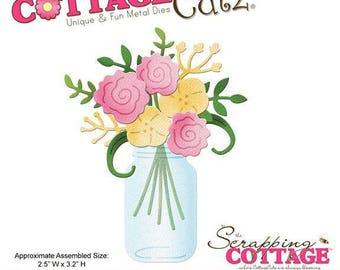 Die - Cut bouquet vase 6.4x8.1cm CC4X4 586 matrix
