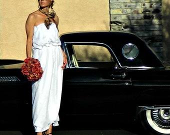 Alternative Wedding Dress-Simple Wedding Dress-Unique Wedding Dress-Casual Wedding Dress-Bonjour Linen Skirt Separate-Modern Bridal Clothes