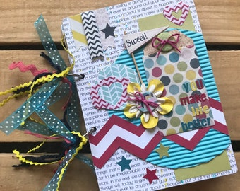 You Make Life Better pre made chipboard scrapbook mini album