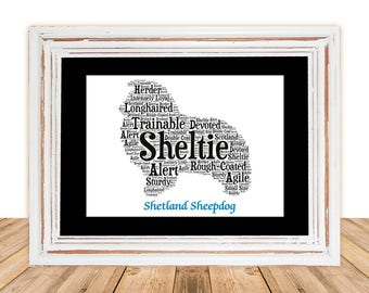 Shetland Sheepdog, Shetlie art, Custom Pet Art, Personalize Pet Art, Pet Gift, Gift under 30, Pet Art,Pet Memorial,Pet Loss Gift