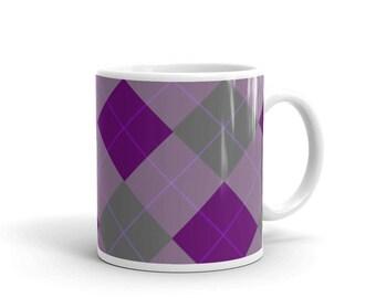 Vintage Textile Pattern Look Purple-PinkMug