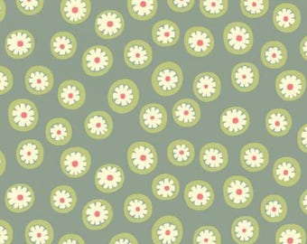 170397 Dusty Blue Daisy Dots