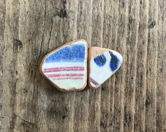 Sea Pottery Mediterranean Hand Decorated Terra Cotta Beach Shards * Beach for House Decor * Vitamin Sea Apartment Therapy