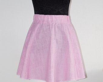 Fairy kei sparkling pastel pink skaters skirt with a beautiful hairband.