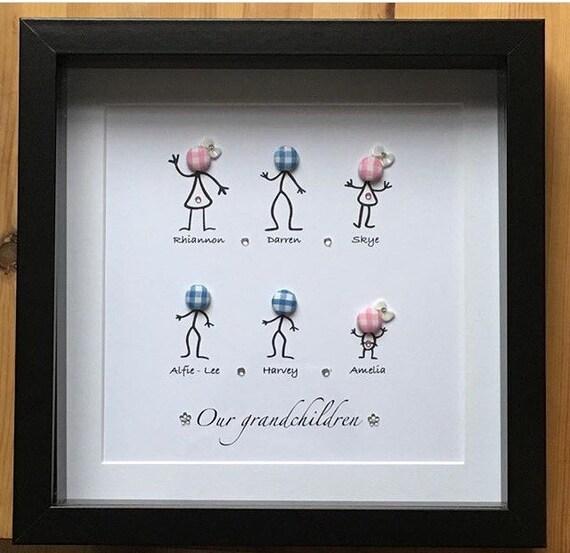 Personalised grandchildren frame gift keepsake family present