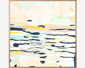 Landscape Art Print, Abstract Landscape Print, Mid Century Modern, Modern Abstract Art, Pastel, Abstract print, Minimalist, Art Work 16x16