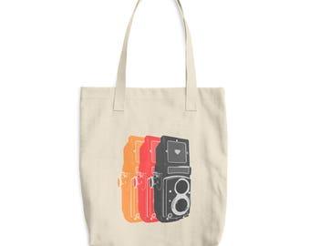 Pop Art Medium Format Vintage Film Camera TLR Tote Bag for Photographers