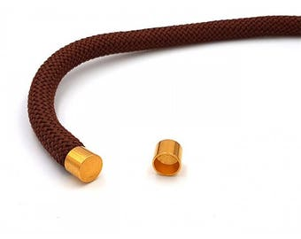 Tip tube cord 10mm gold plated