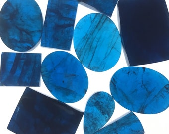 Individual Apatite Slices // Apatite Cabochons // Gems / Cabochons / Jewelry Making Supplies / Village Silversmith