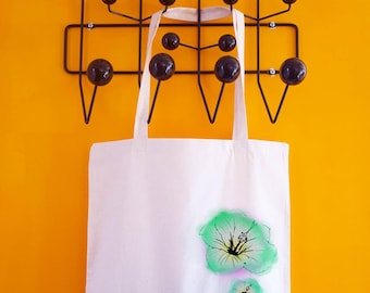 Tote bag cotton natural color - printed on a summer time
