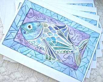 FANCY FISH Notecards