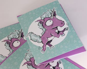 GREETING card - Monster 6 (2018 collection)