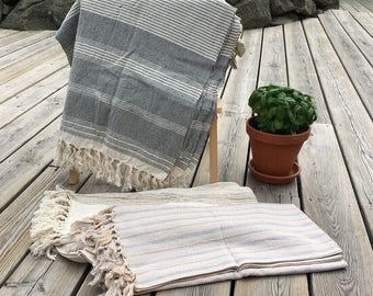 Turkish Hammam Towel, Peshtemal, Fouta 100x200 cm cotton & linen Handmade
