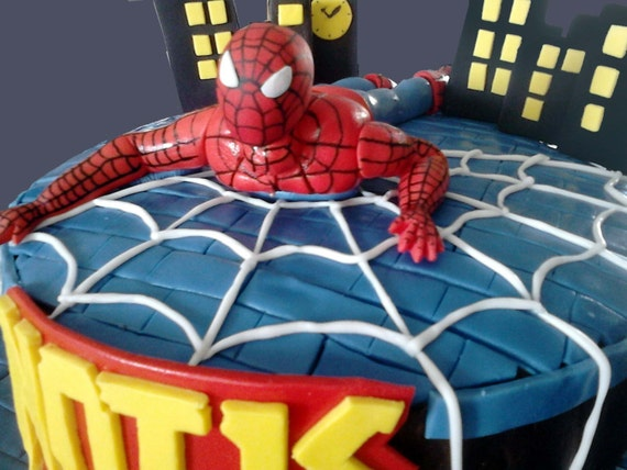 The Amazing Spiderman Fondant Edible Cake Topper Superhero