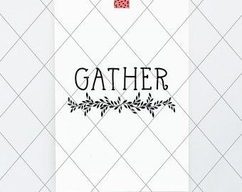 Gather, svg, cut file, 2 fall decor, autumn svg, vector file, design, wall art, fall autumn quote digital, fall vector thanksgiving