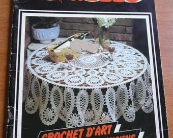 Vintage french magazine 1000 mailles - crochet book,