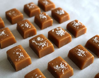 Salted Caramels 1 lb Bag - Fleur de Sel Sea Salt