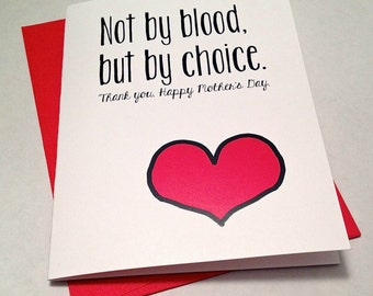 Mother's Day Card - Adoptive Mom Card - Step-Mom - By Choice