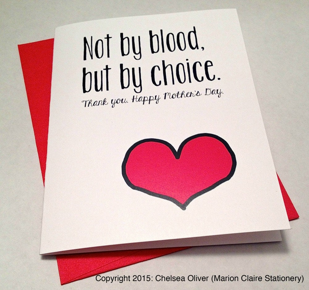 Mother's Day Card Adoptive Mom Card Step-Mom By
