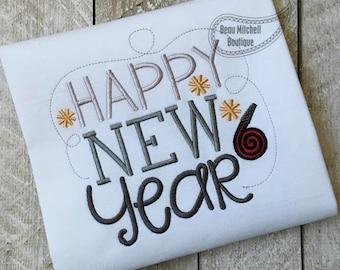 Happy New Year swirl