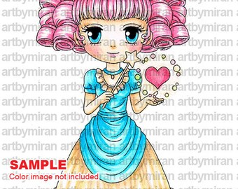 Digital Stamp - The Magic of Love(#114-1), Christmas Digi Stamp, Coloring page, Printable Line art for Card and Craft Supply