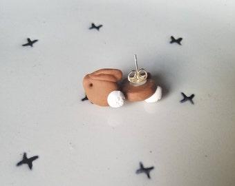 Chocolate Bunny Easter Earrings