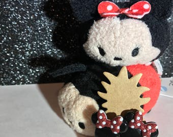 Minnie Mouse Earrings // Rock the Dots // Classic Silhouette with Glittery Bow // Disney Gift Ideas / Disney Wedding Jewelry