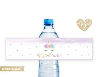 Unicorn Water Bottles, Printable Unicorn Bottle Labels, Unicorn Birthday Decor, Magical Unicorn, Unicorn Bottle Labels, Magical Water Labels