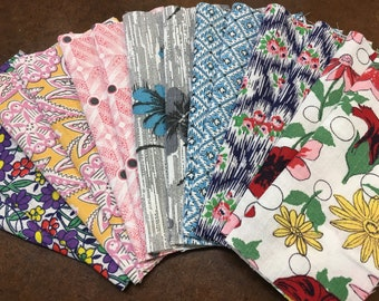 Feedsack Fabric 40 squares 7.5 x 7