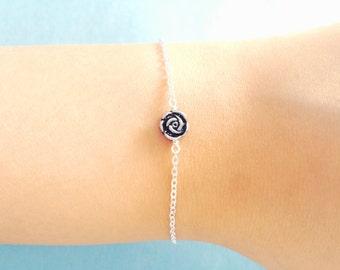 Belle, Rose, Flower, Silver, Bracelet, Romantic, Antique, Rose, Bracelet, Birthday, Friendship, Mom, Sister, Gift, Jewelry