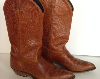 Code West Leather Cowboy Boots size 6.5