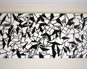 Original black and white abstract contemporary minimalism fine for Minimal art venezuela