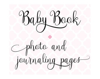 Set of 24 Extra Photo & Journaling Pages for Charmbooks Baby Memory Books