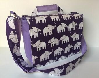 children's bag (M) 'Elephant Walk' purple